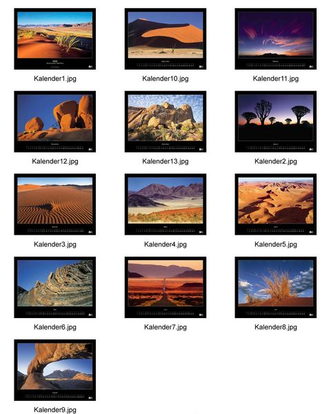 Mein Namibia Kalender 2004 - endlich fertig...