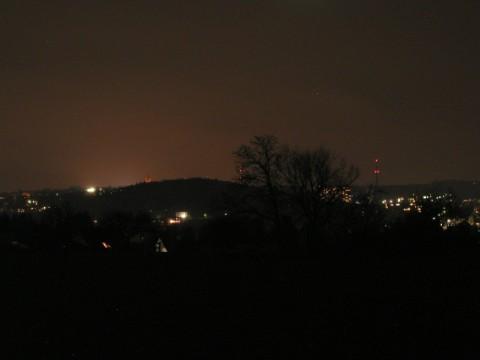 Mein Ort bei Nacht