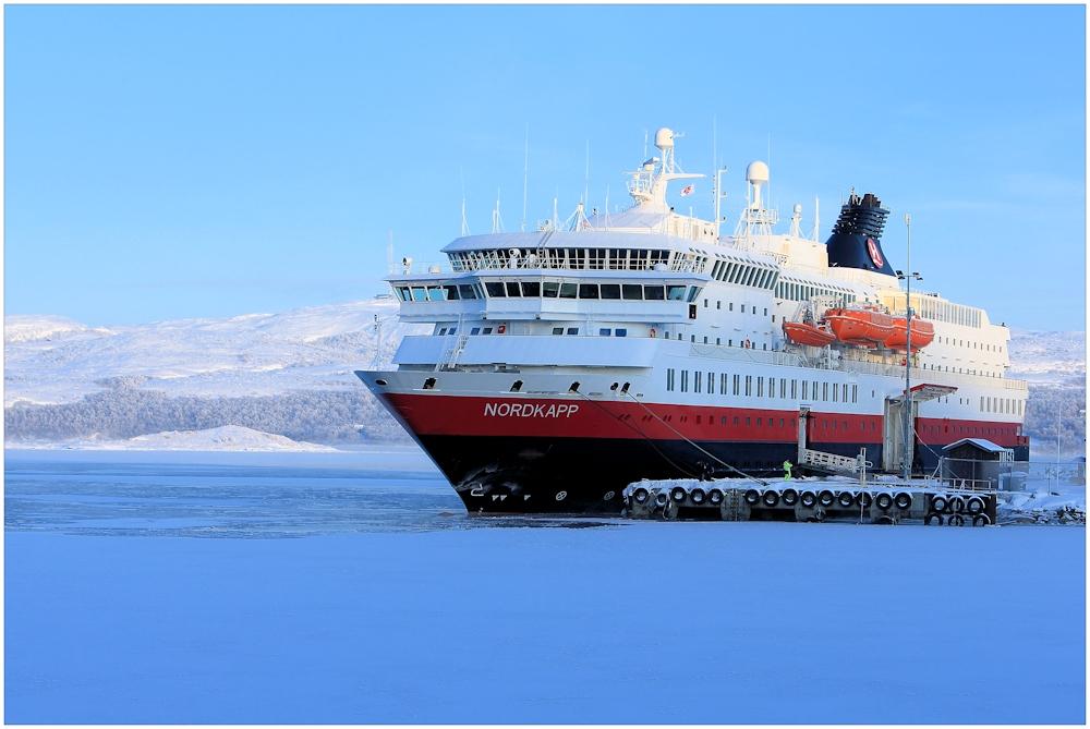mein Schiff bei -25°C in Kirkenes...