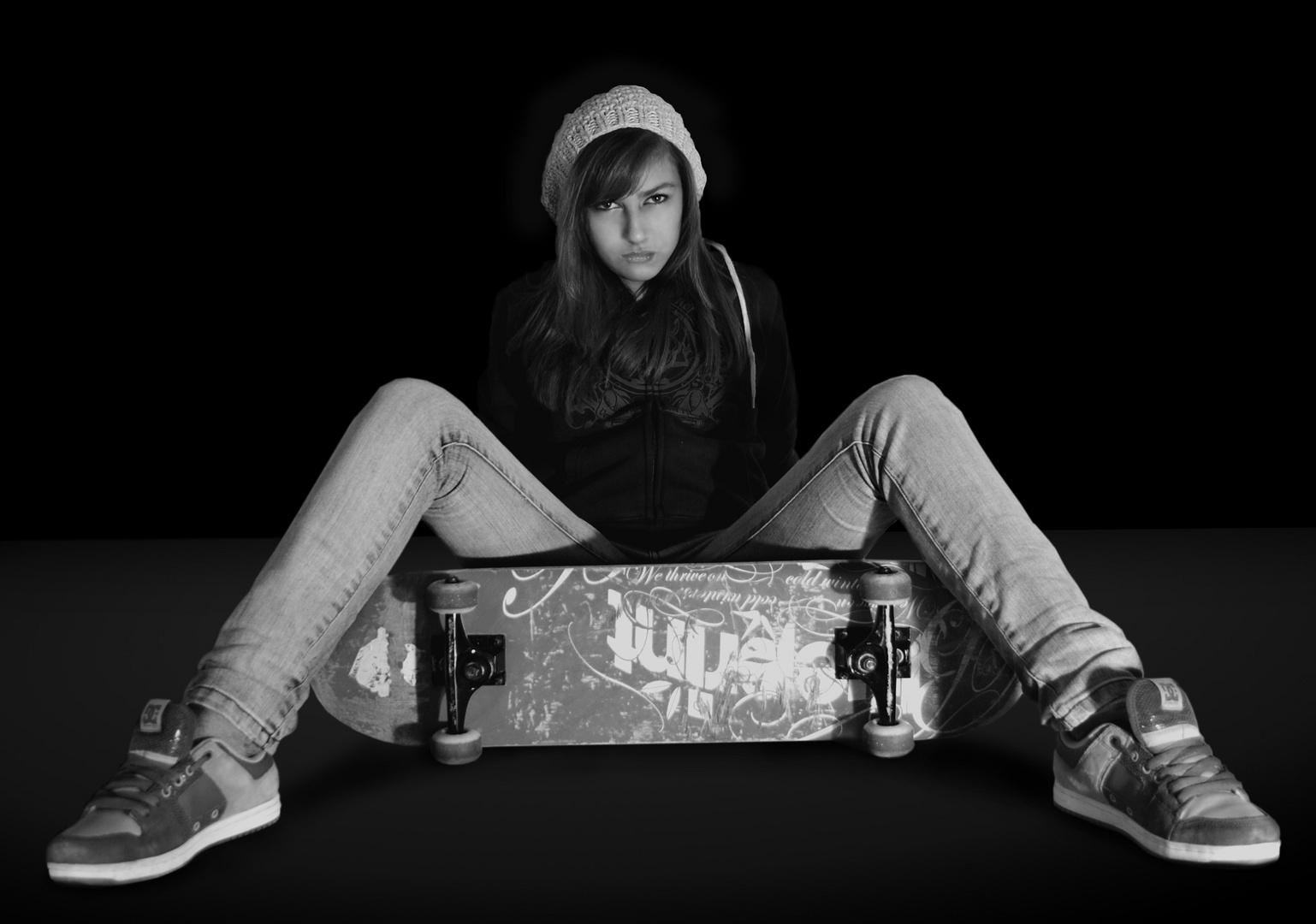 mein Skateboard!