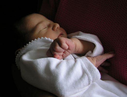 Mein Sohn Alban, 4 Tage jung
