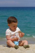 Mein Sohn, das Meer und der Strand