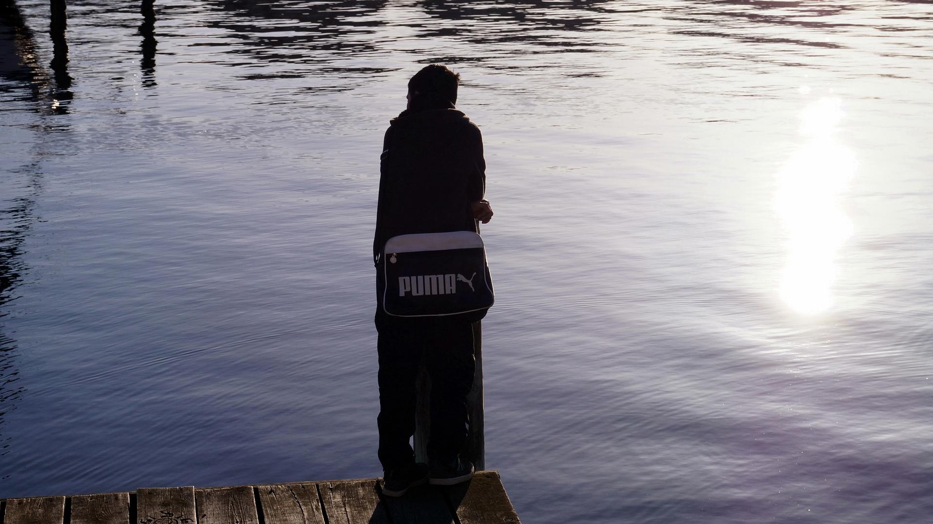 Mein Sohn im Hafen