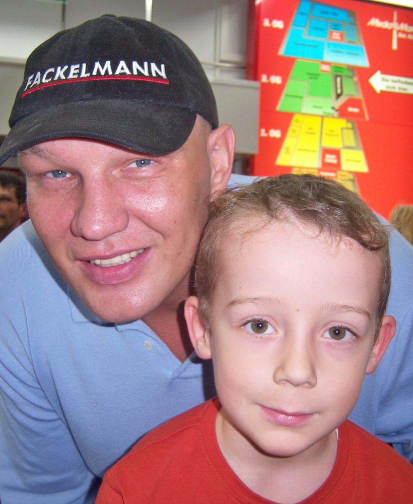 Mein Sohn Jamiro und Axel Schulz