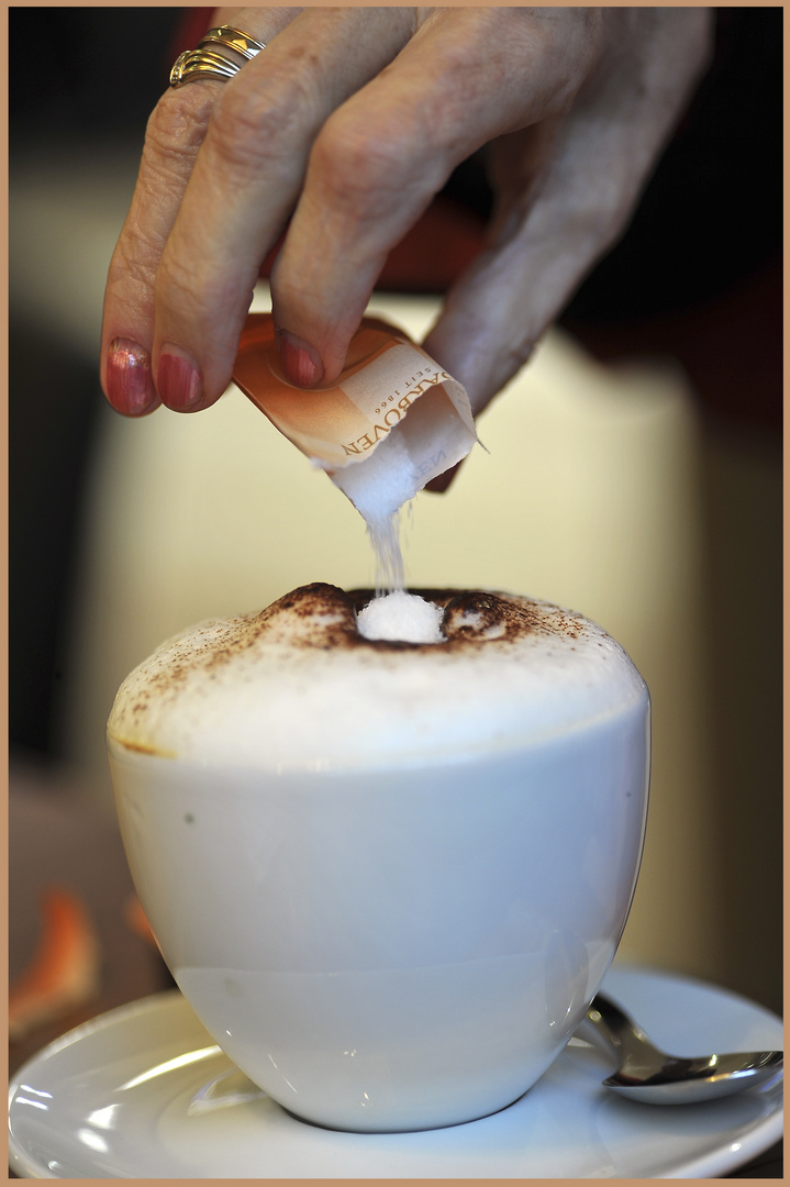 Mein täglicher Cappuccino....
