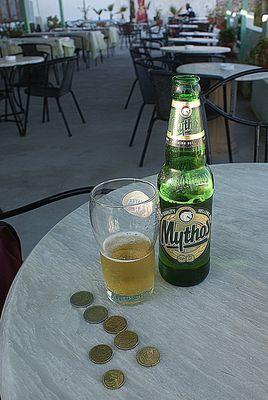 Mein teuerstes Bier auf Santorini (Thira)
