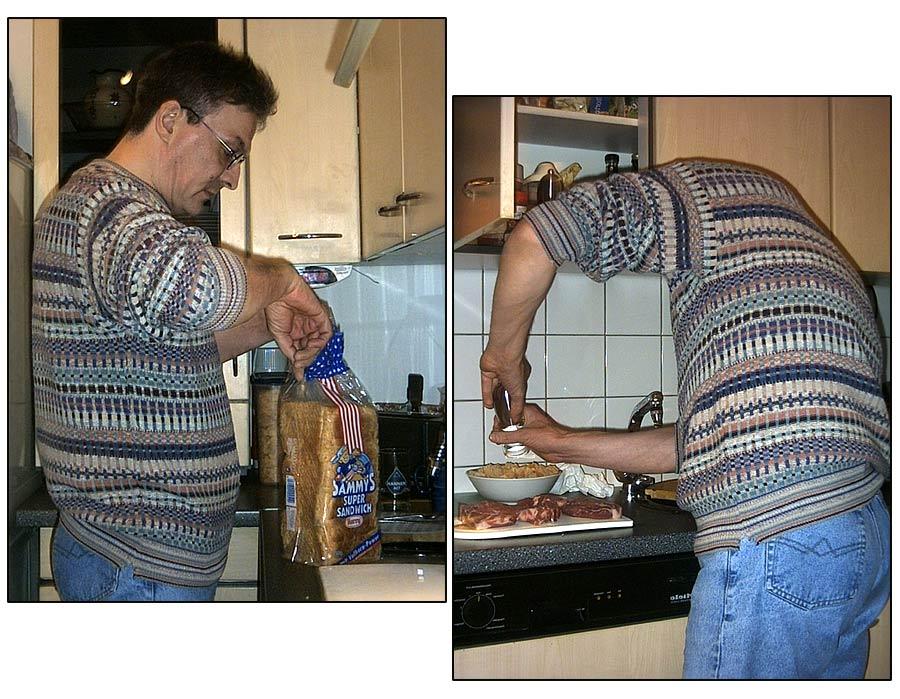 mein Vater in der Küche