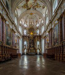 """Mein""""Blick zum Chor"""" in der Klosterkirche St. Mariä Himmelfahrt (Fürstenfeldbruck)"""