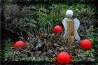 Meine Adventskugeln mit Weihnachtsengel