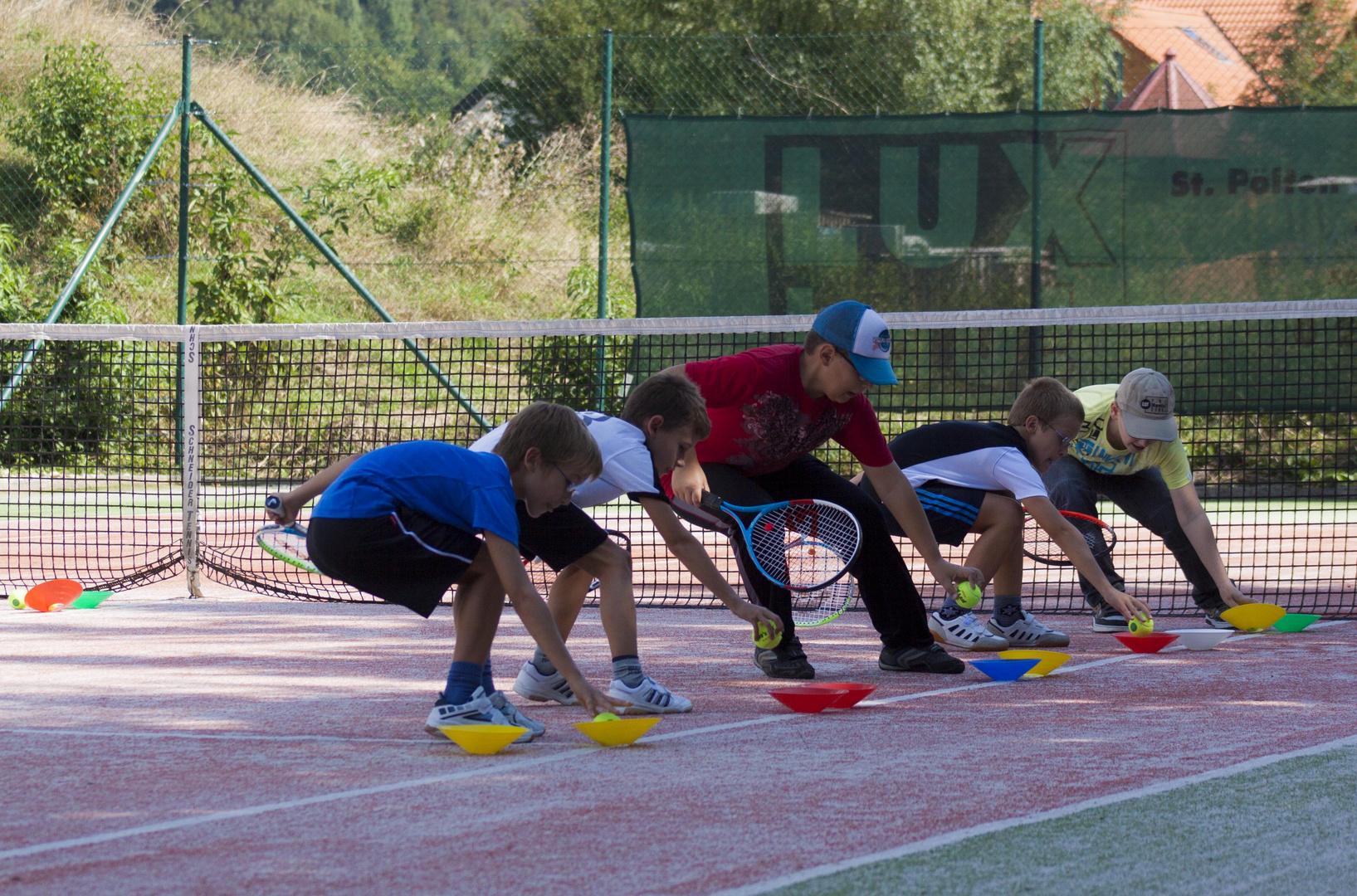 Meine beim Tennisspielen