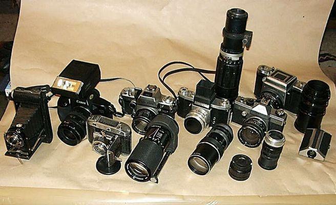 Meine Chemie-Kameras aus dem 20sten Jhd.
