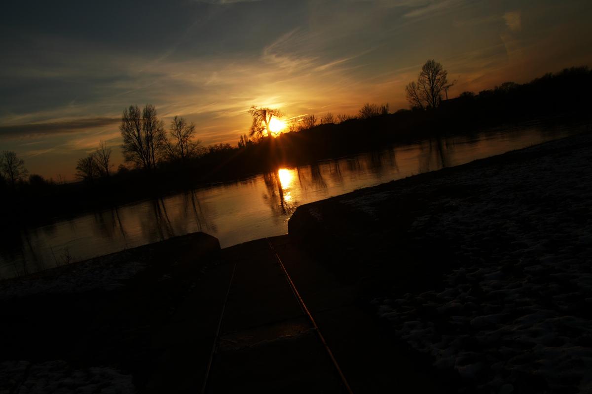 meine Elbe im Winterlicht