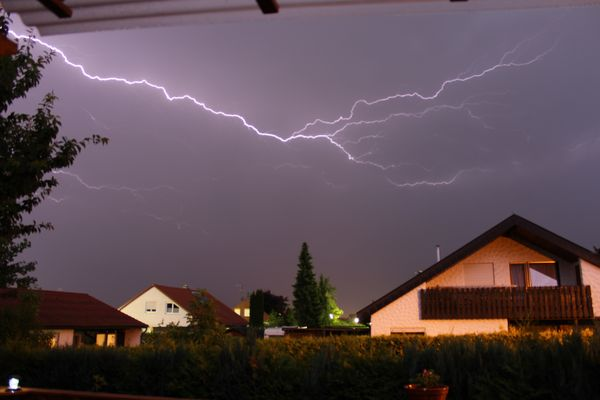 Meine ersten Blitze....