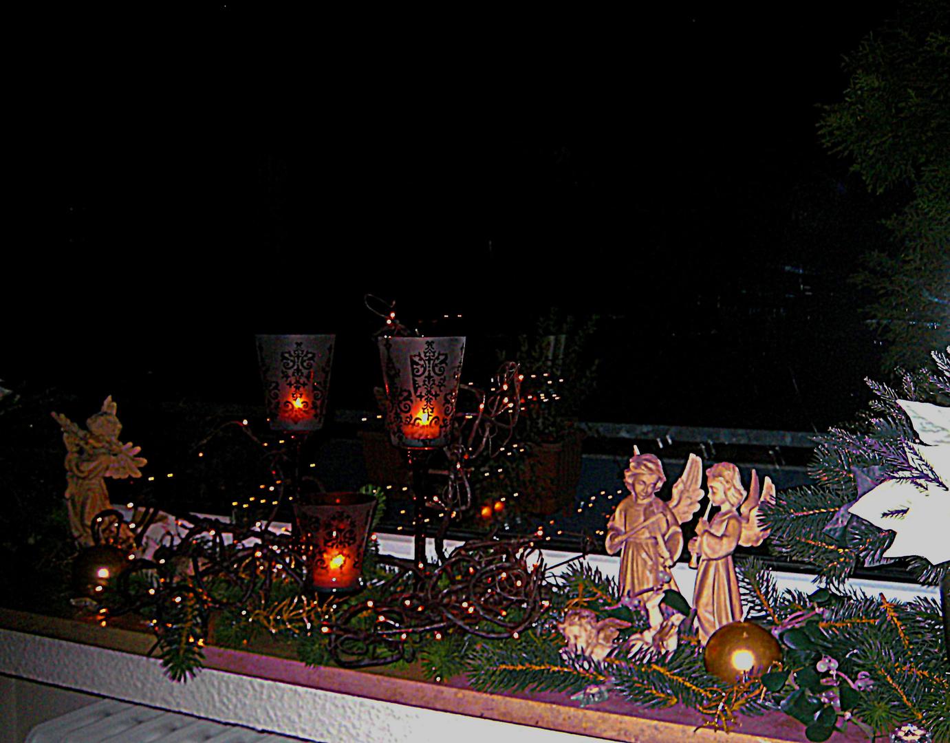 Meine Fensterbank im Advent