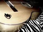 meine gitarre mit teppich