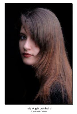 Meine langen braunen Haare