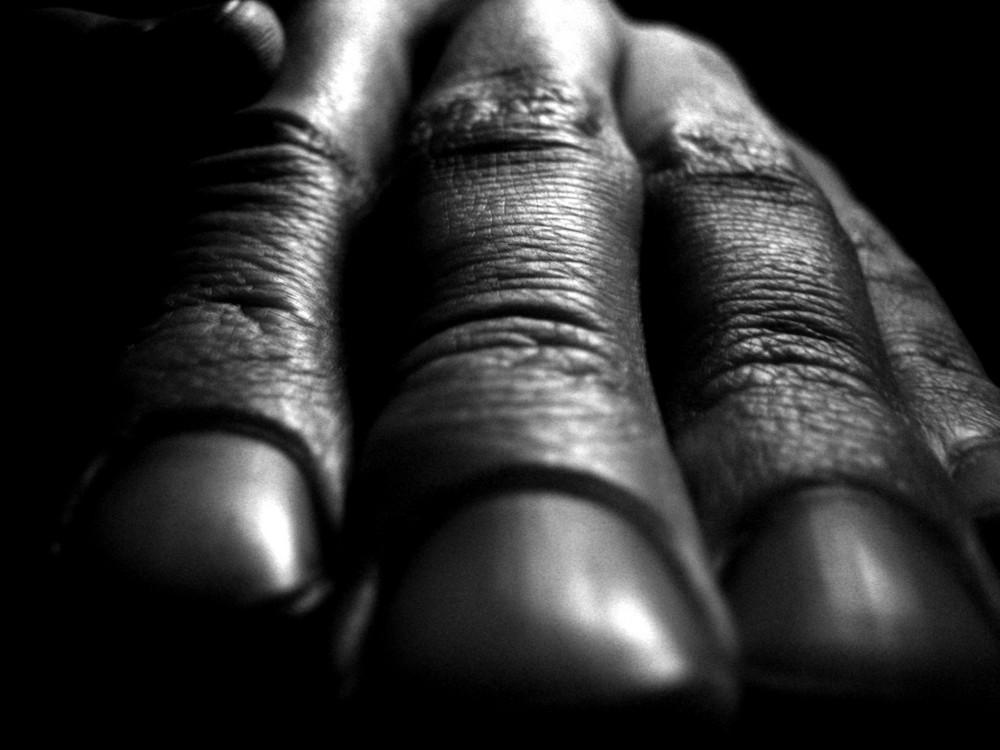 meine linke Hand