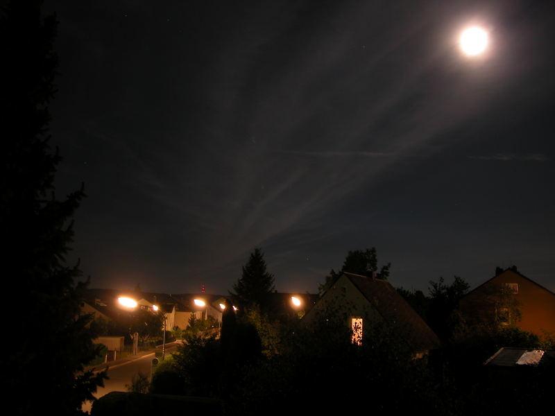 Meine Nachbarschaft bei nacht