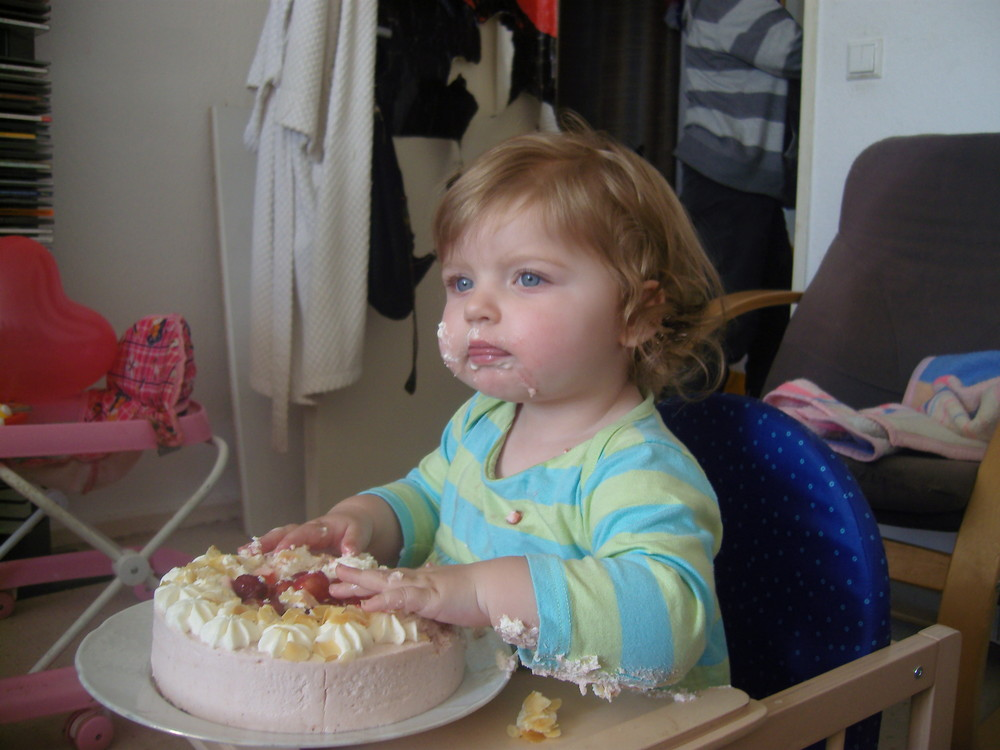 Meine Nichte an ihrem 1.Geburstag