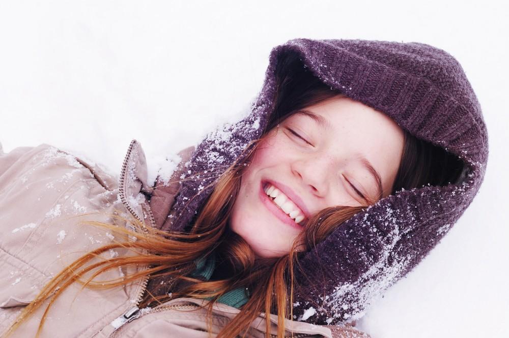 Meine Schwester im Schnee