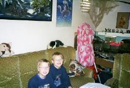 Meine Söhne vor einem Besuch