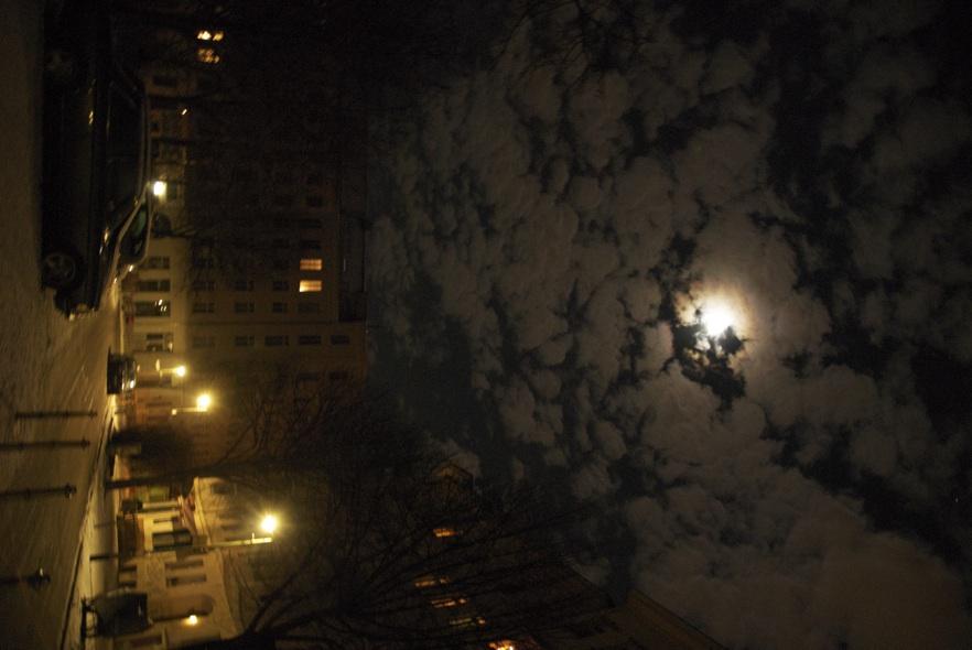 meine straße bei nacht...