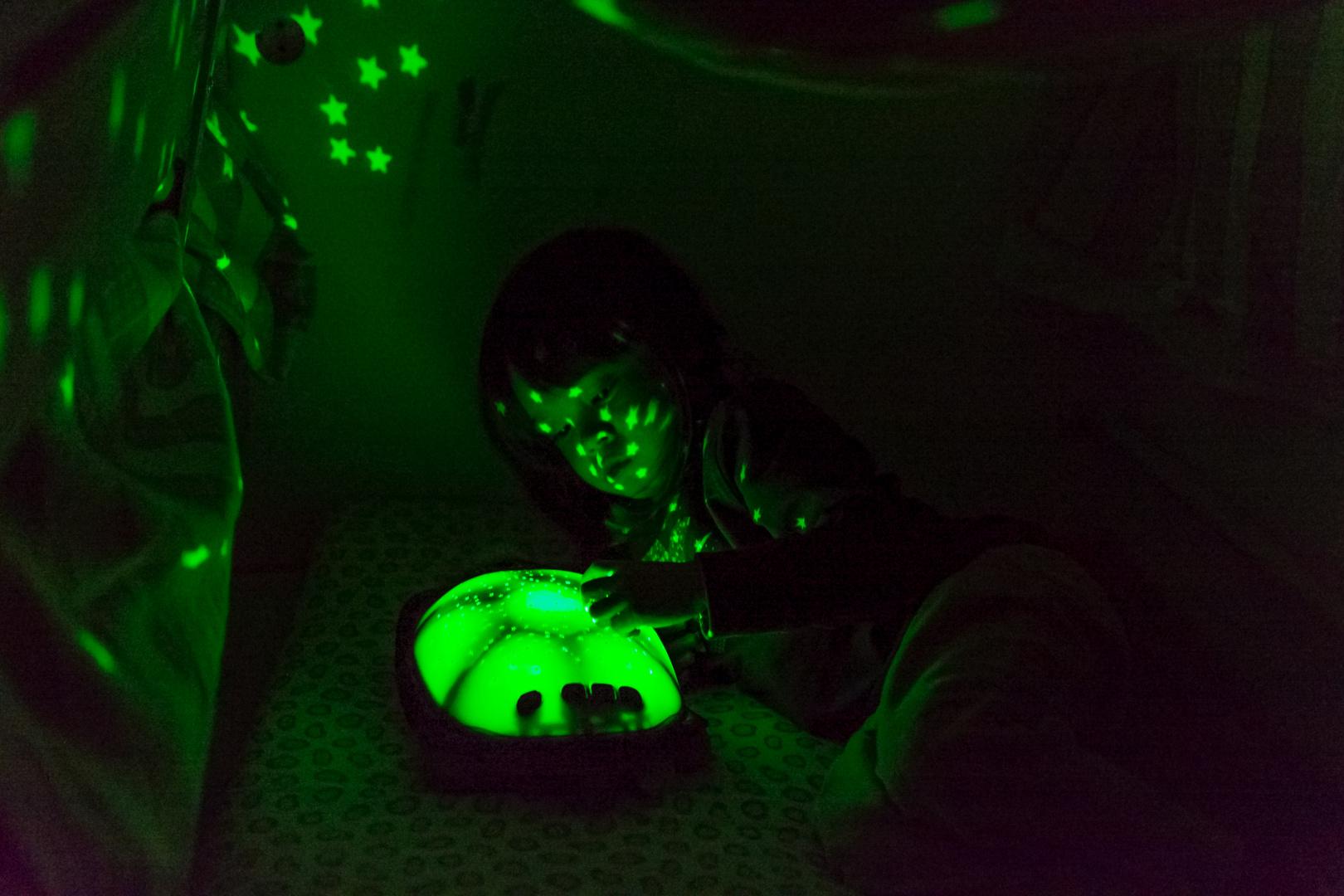 Meine Tochter in ihrer Höhle