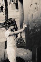 Meine Tochter in Miami Beach
