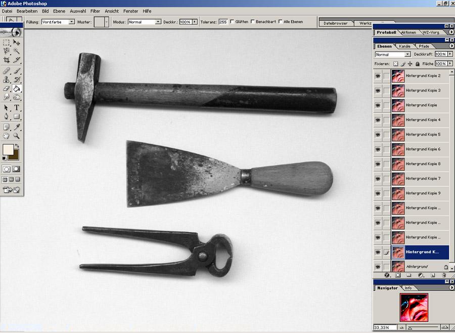 meine Werkzeuge im PHOTOSHOP !