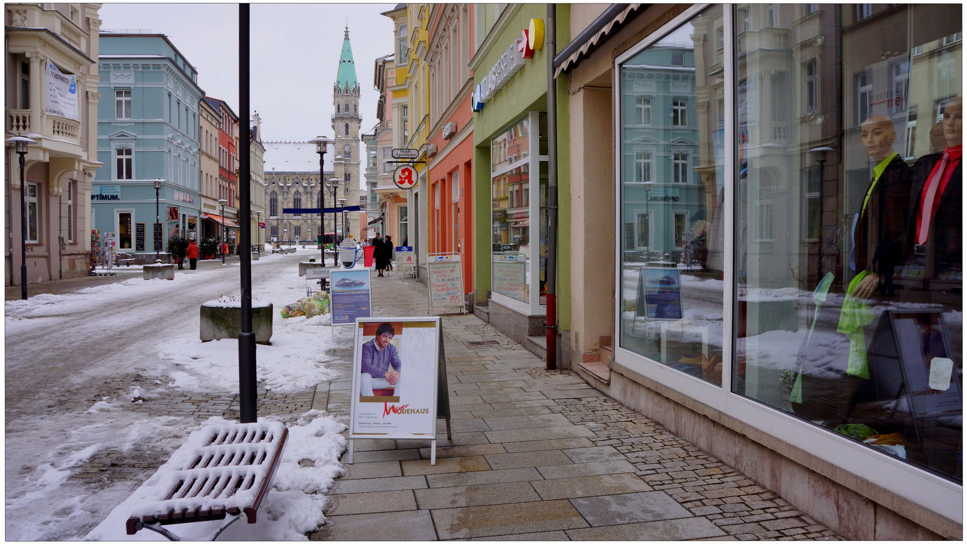 Meiningen, en la calle principal (Meiningen, Hauptstrasse)