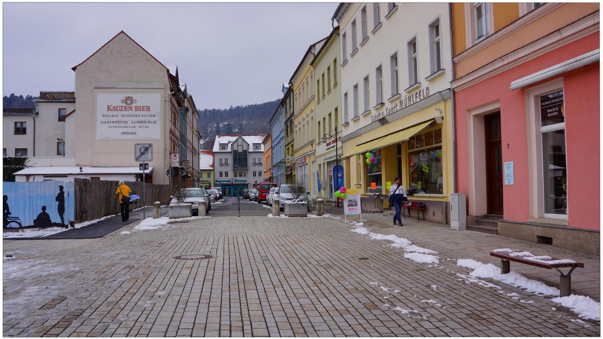 Meiningen, en la plaza major (Meiningen, Marktplatz)