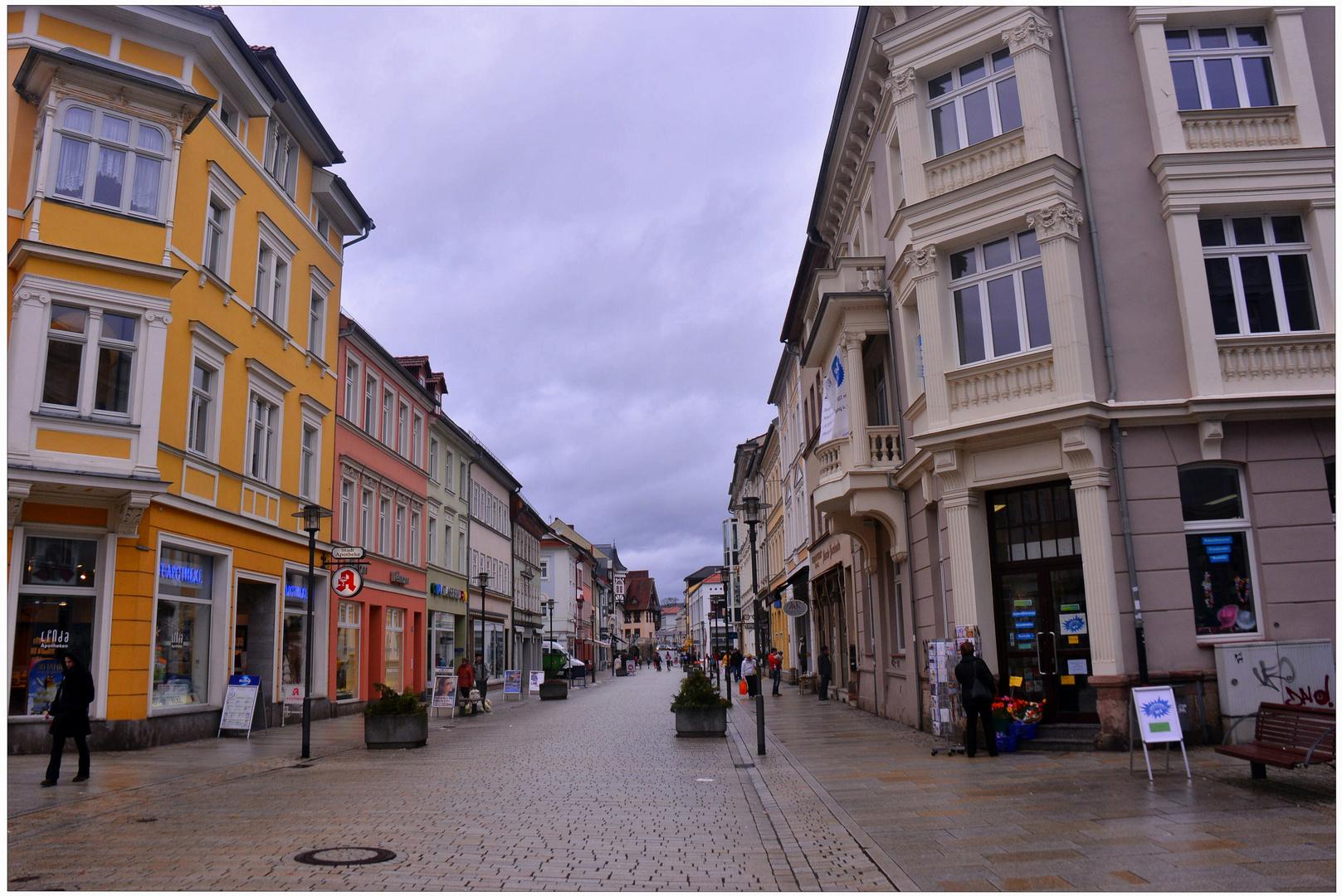 Meiningen, Hauptstraße (la calle principal)
