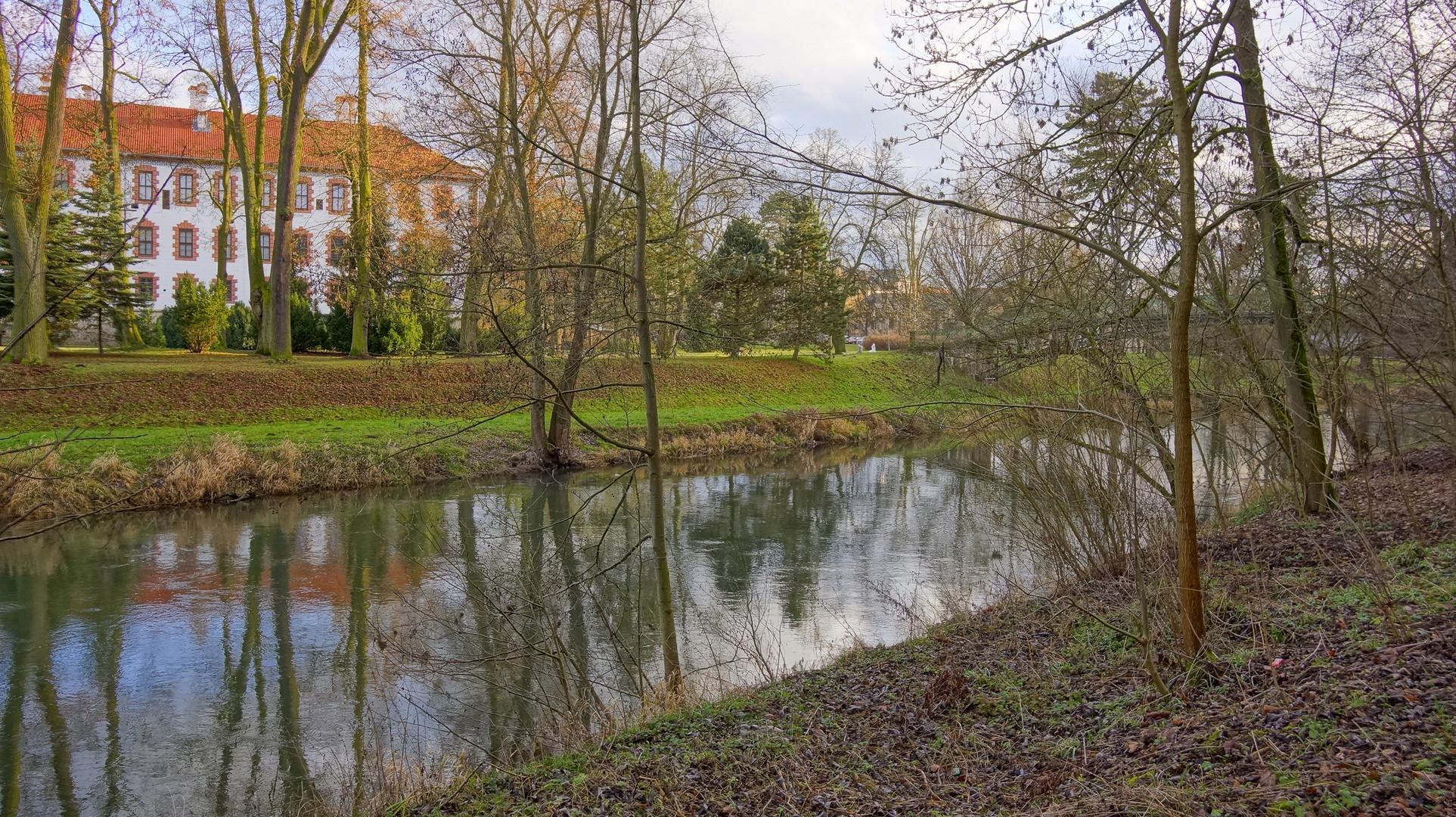 Meiningen, im Schlosspark (en los jardines del palacio)