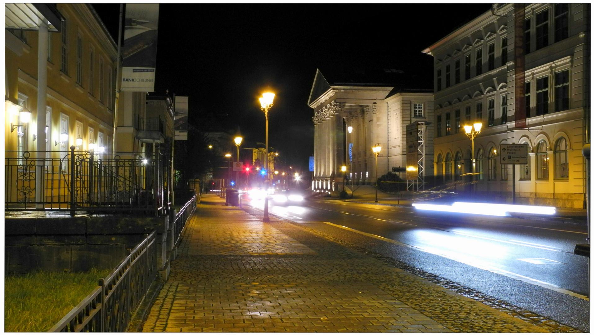 Meiningen, vista al teatro, anoche