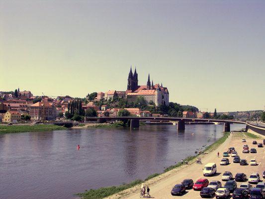 Meißen Albrechtburg mit Dom