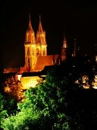 Meißner Burg bei Nacht