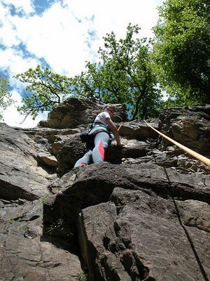 Meisterin beim Klettern