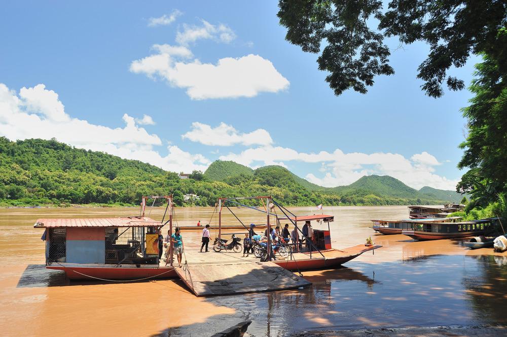 Mekong ferry port
