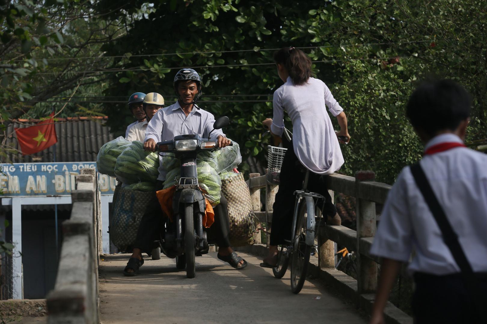 Mekong, manchmal ist es eng ...