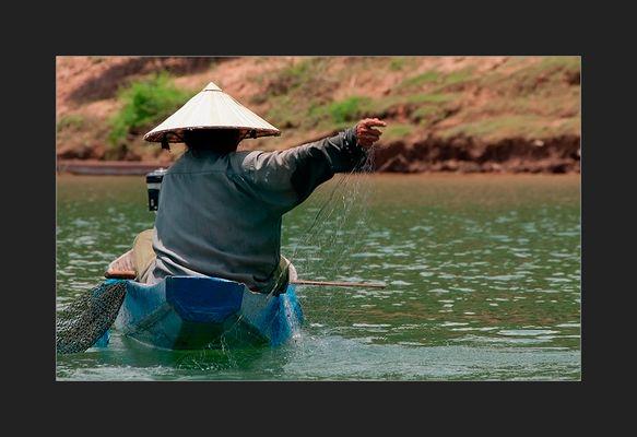 Mekongfischer bei den viertausend Inseln