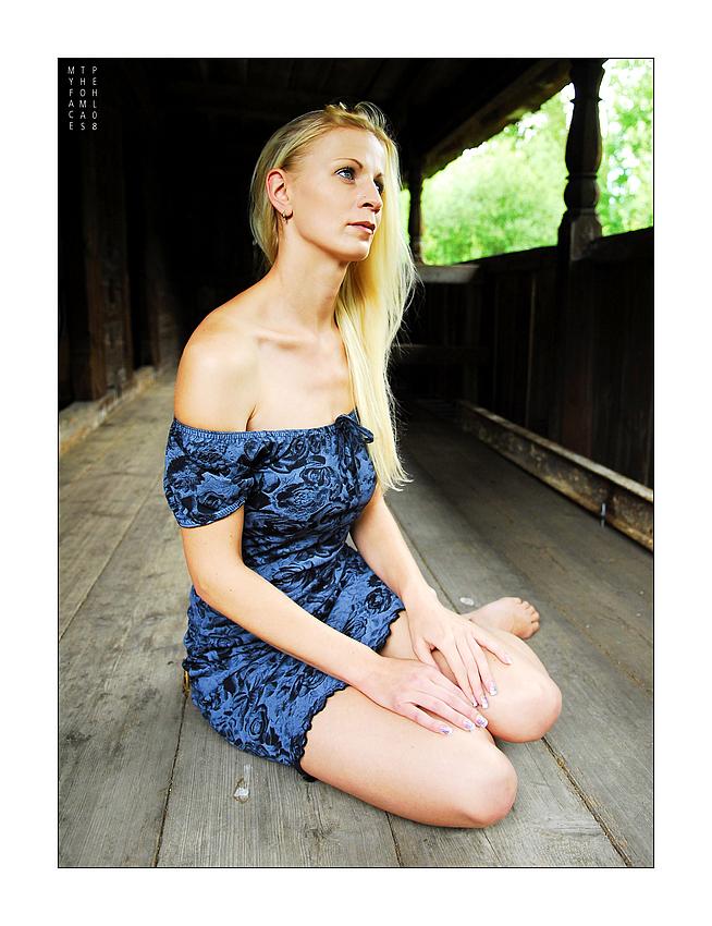 Melanie sitting
