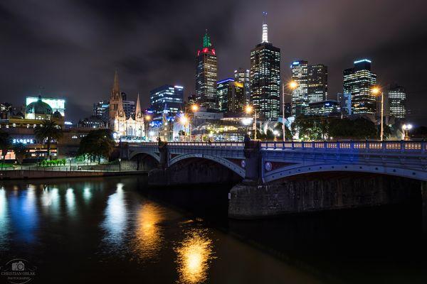 Melbourne in der Nacht II