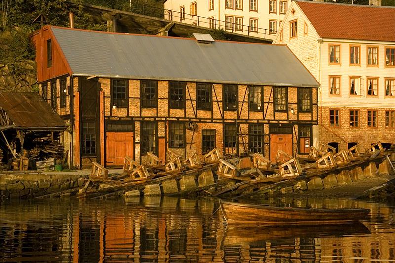 Mellemværftet wooden shipyard in Kristiansund