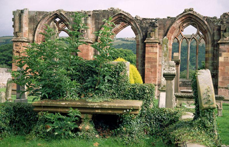 Melrose Abbey Friedhof