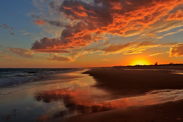 Memorable atardecer, Manta Rota -Algarve-