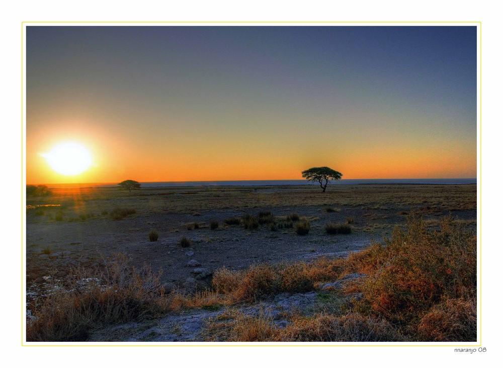 MEMORIAS DE AFRICA -1 ATARDECER EN ETOSHA
