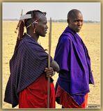 MEMORIAS DE AFRICA-DOS GERREROS MASAI-LAGO MANYARA -TANZANIA