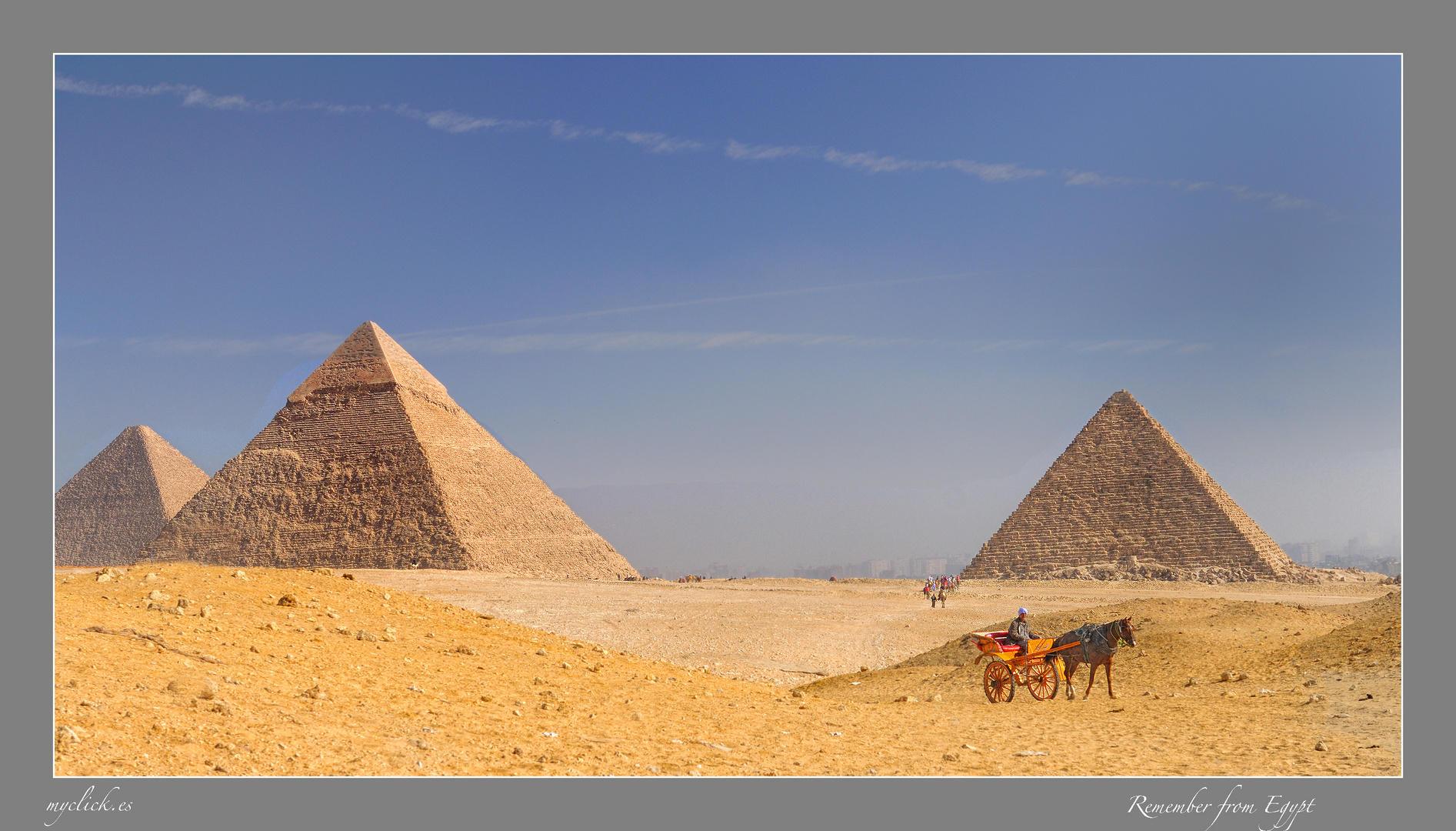 MEMORIAS DE AFRICA-LAS PIRAMIDES Y CARROMATO -GUIZA-EGIPTO