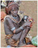 MEMORIAS DE AFRICA-VENDEDORA DE CHAT MERCADO DE DIMEKA-ABISINIA ETIOPIA