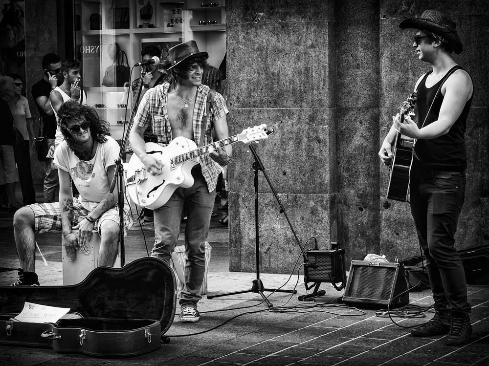Men at work - Street-Band